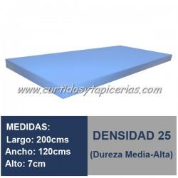Plancha Espuma Med. 200x120x7cm D-25