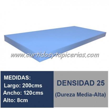 Plancha Espuma Med. 200x120x8cm D-25