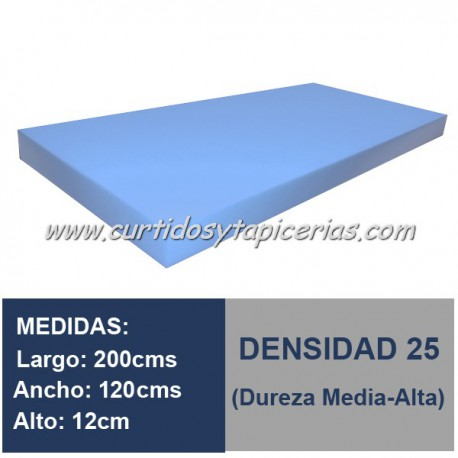 Plancha Espuma Med. 200x120x12cm D-25