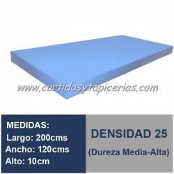 Plancha Espuma Med. 200x120x10cm D-25