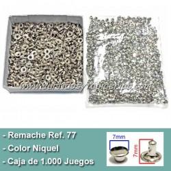 Caja de Remaches Ref. 77 Pequeños 2 Piezas (Macho y Hembra)