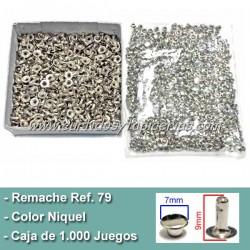 Caja de Remaches Ref. 79 Pequeños - Largos 2 Piezas (Macho y Hembra)