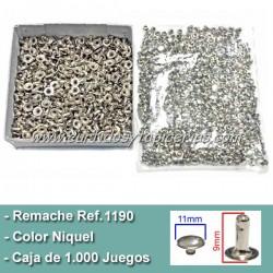 Caja de Remaches Ref. 1190 Cabeza Grande 2 Piezas (Macho y Hembra)