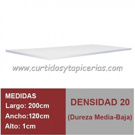Plancha Espuma Med. 200x120x1cm D-20