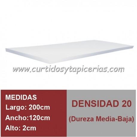 Plancha Espuma Med. 200x100x2cm D-20