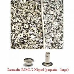 Caja de Remaches Latón Pequeños-Largos 2 Piezas (Macho y Hembra)